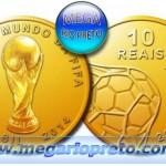O melhor souvenir da Copa 2014 no Brasil – Moeda de ouro comemorativa da Copa 2014 Brasil – Moeda de prata comemorativa e Moeda de Cuproníquel