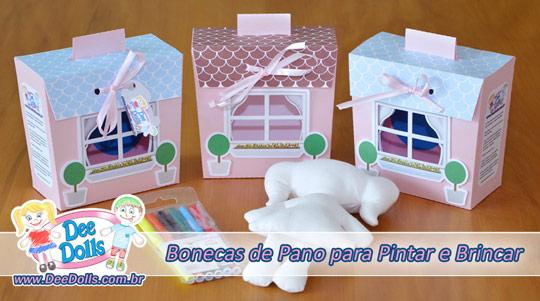 Dee Dolls a Boneca de Pano para Pintar e Brincar Produto lavável