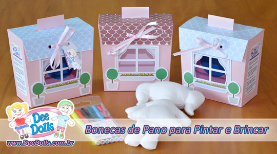 Dee Dolls Boneca de Pano para pintar