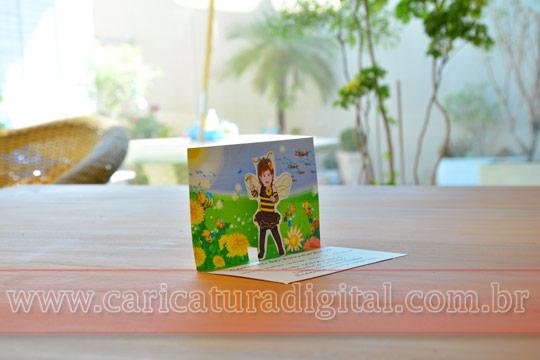 Convites Pop Up são convites diferentes e personalizados com caricatura digital